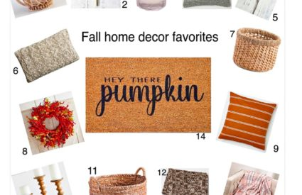Fall home decor Favorites