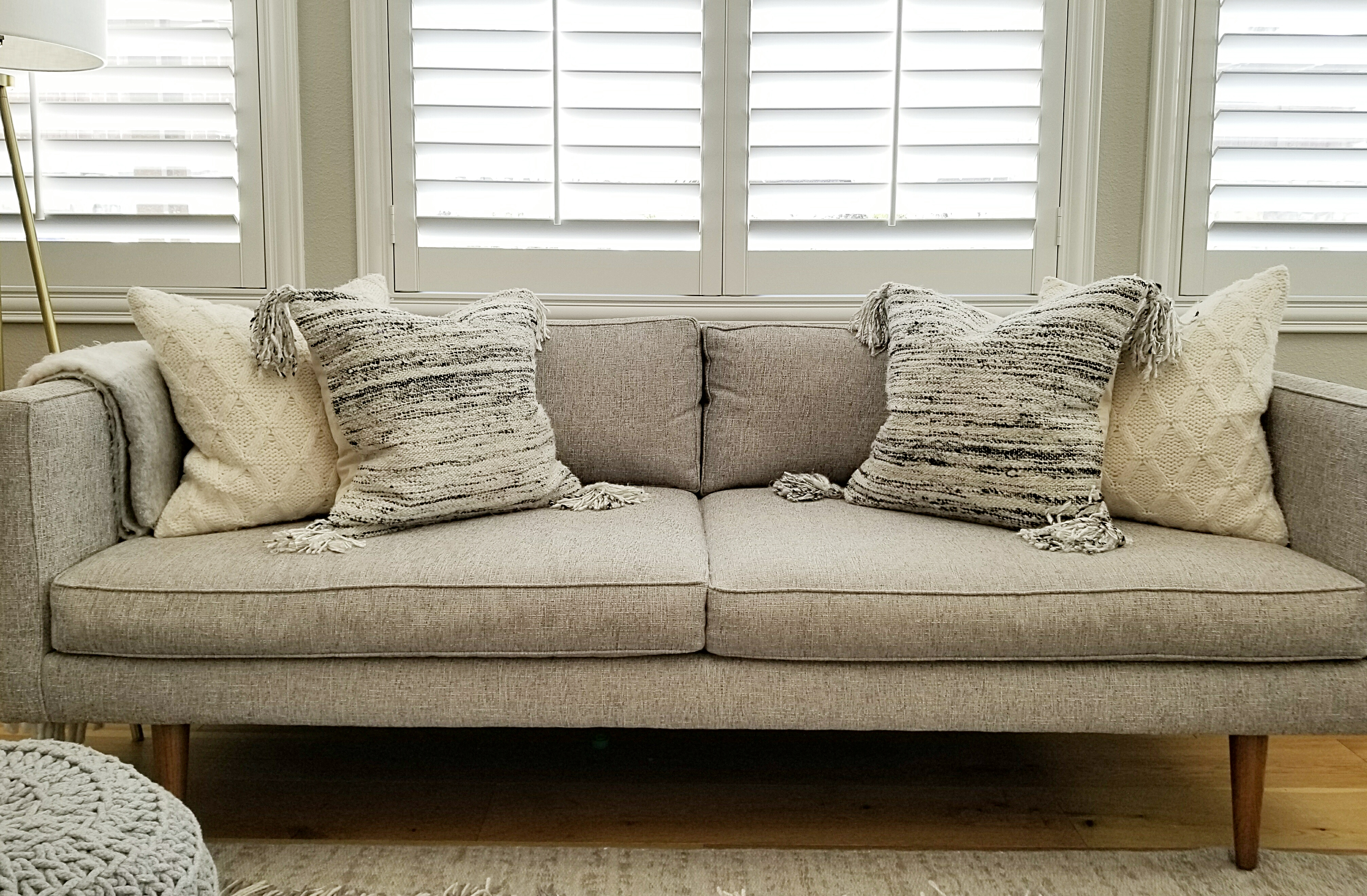 Enjoyable Pillow Styling Sources And Arrangements House Becomes Andrewgaddart Wooden Chair Designs For Living Room Andrewgaddartcom
