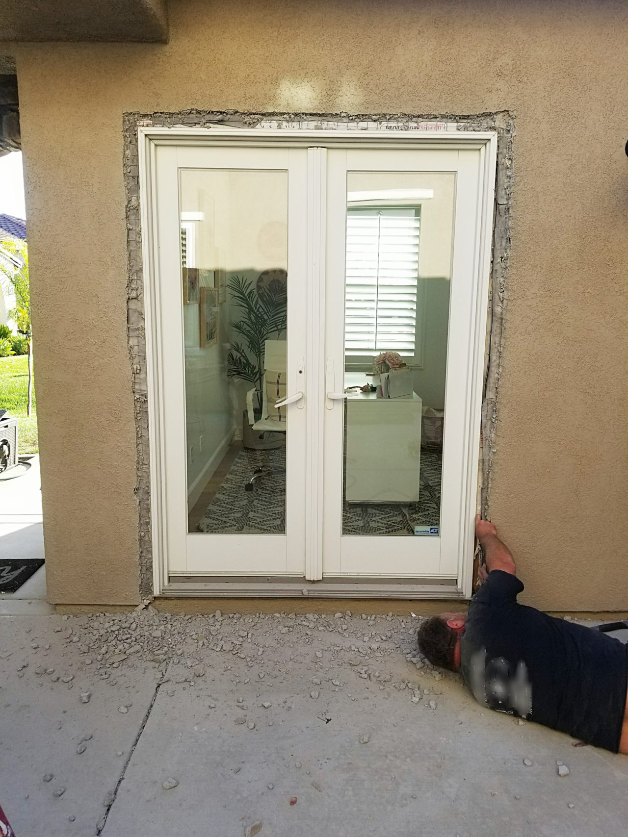 My Uncle Contractor Installed New Doors Please Consult Or Use A Professional For The Removal And Installation Of Your