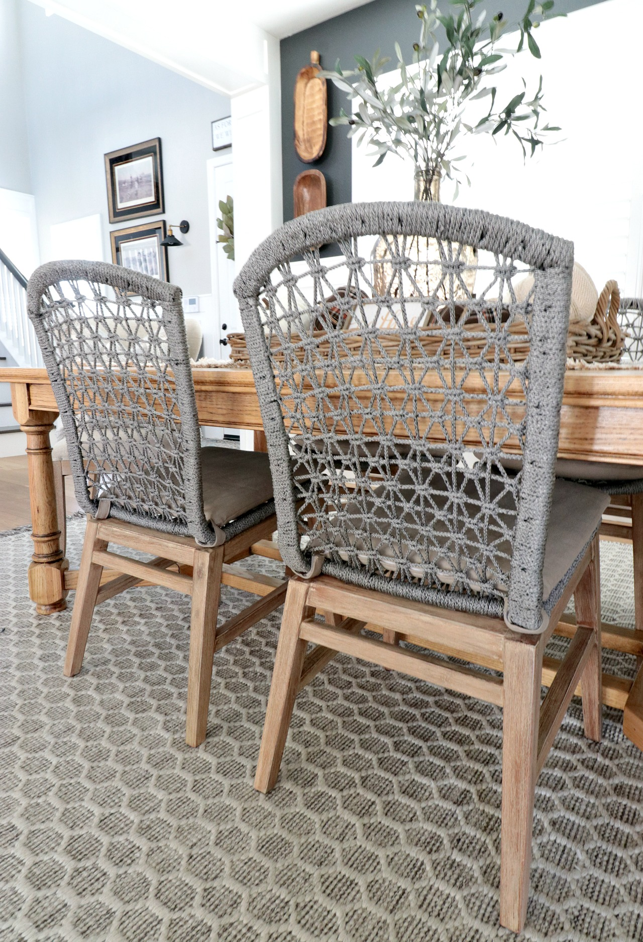 1d7056f16bc9 The platinum rope detail is not only beautiful but super comfy! The Lace Dining  Chair also comes with removable light gray seat cushion for extra comfort.