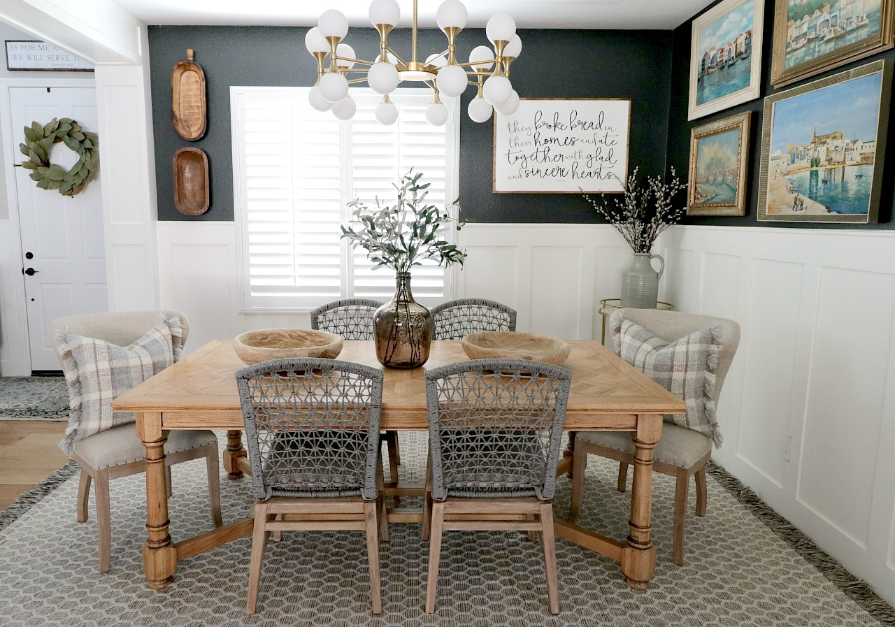 Thank You For Taking The Time To Read My Dining Room Refresh Blog Post A Special Essentials Living And Hudson Valley Lighting