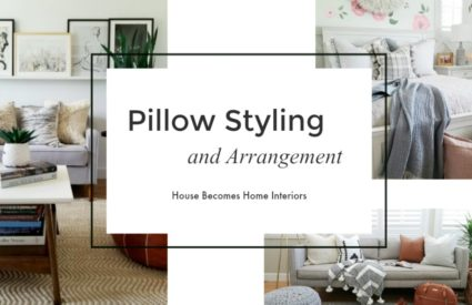 Pillow Styling, Sources and Arrangements
