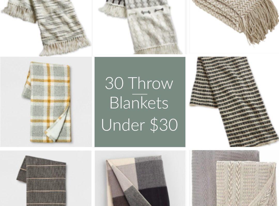 30 Throw Blankets Under $30